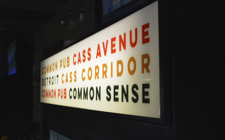 Common Pub Cooler Signage