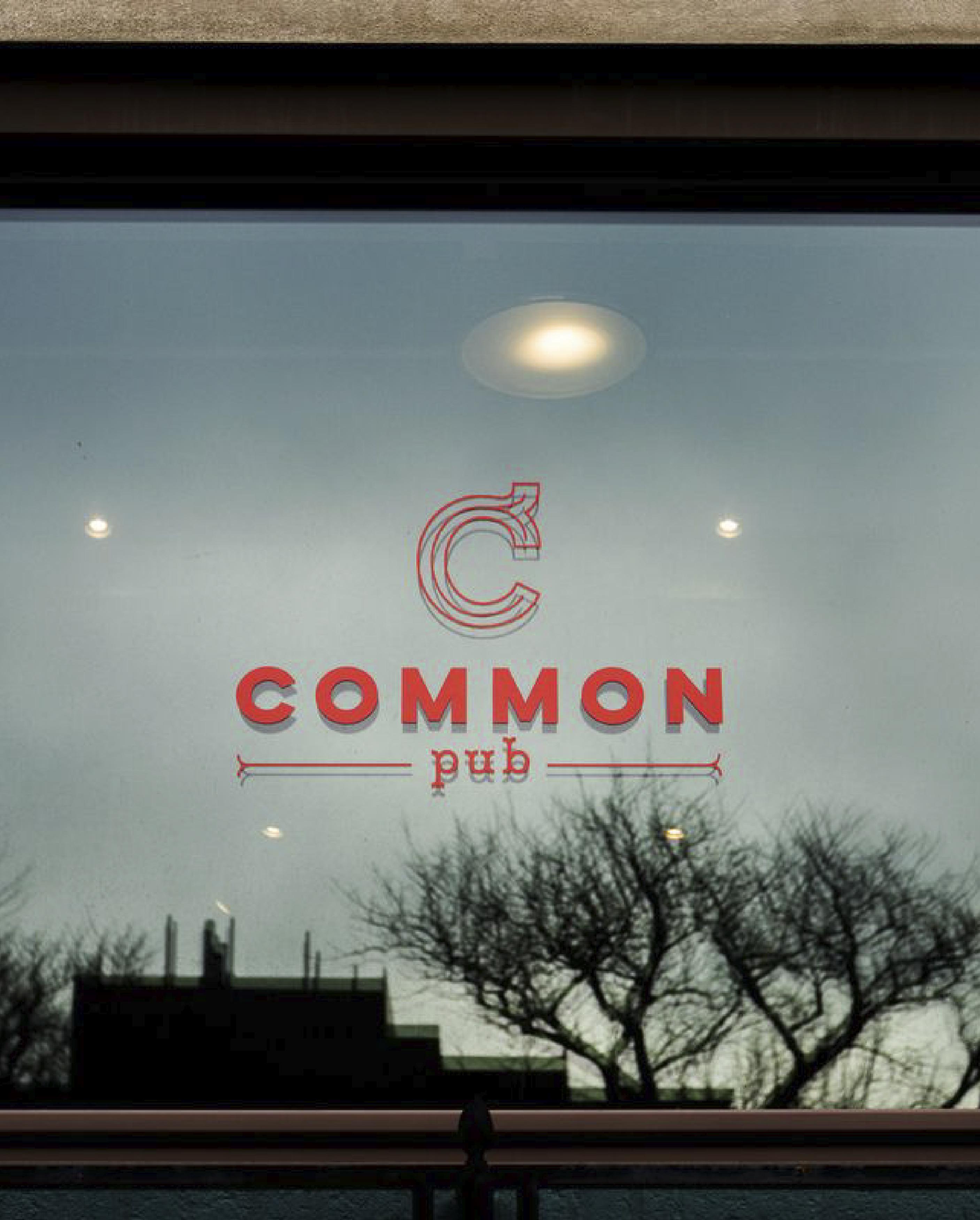 Common Pub Window Vinyl Graphic