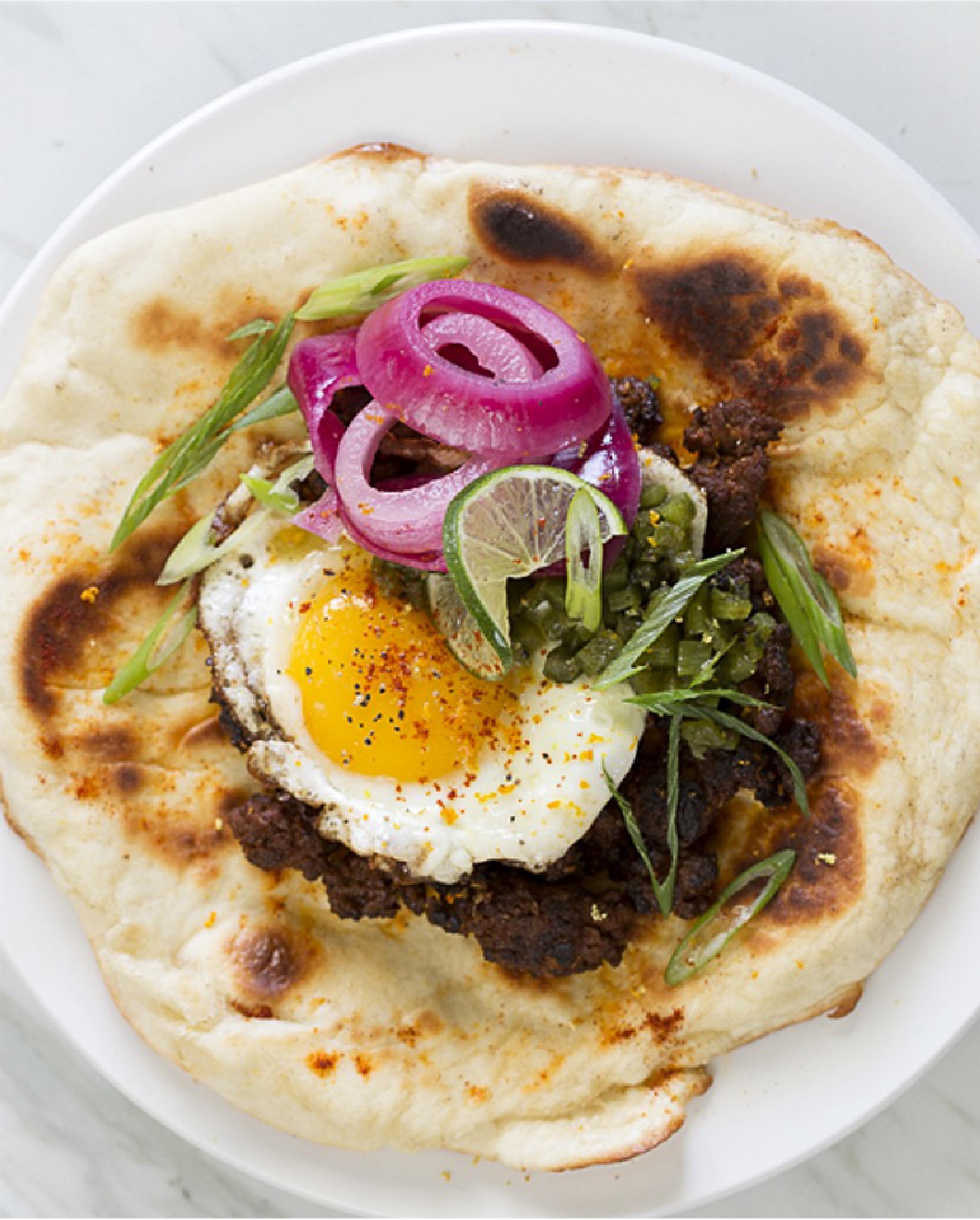Common Pub - Lamb and Egg Burrito